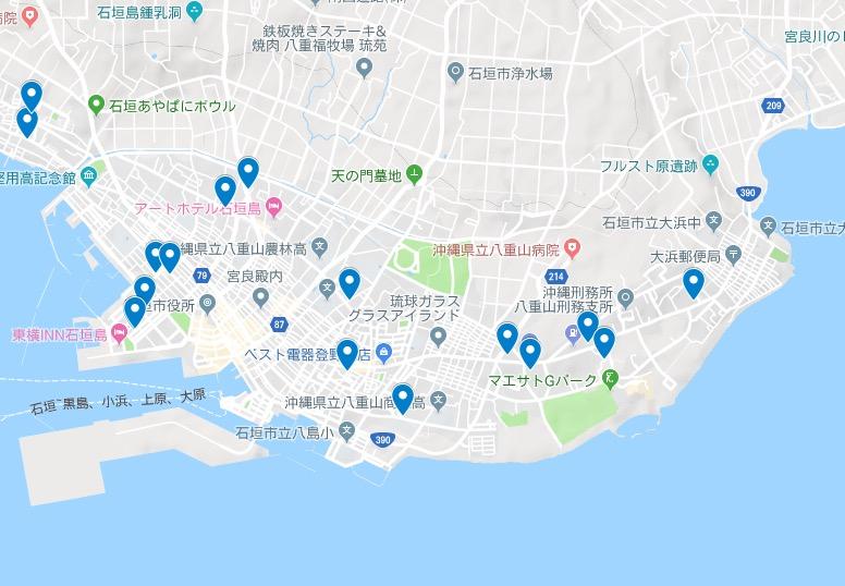 【ハナタカ情報】石垣島コインランドリーMAP